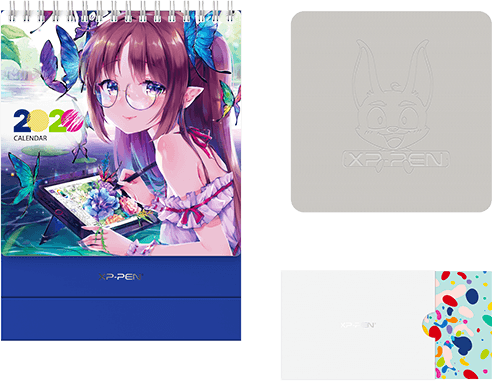 Cleaning Cloth,Greeting Card and Calendar come with XP-Pen Artist 15.6 Pro Holiday Edition