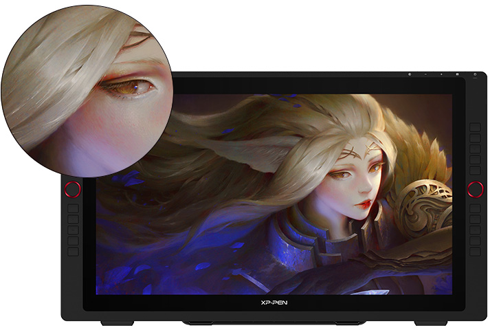 XP-Pen Artist 24 Pro Graphic Pen Display 24inch come with 2560 X 1440 Resolution