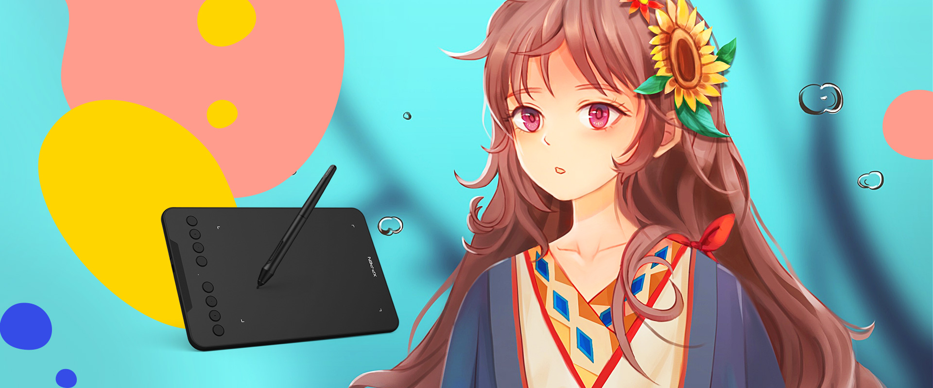 Create anytime, anywhere with XP-Pen Deco mini7 digital drawing tablet
