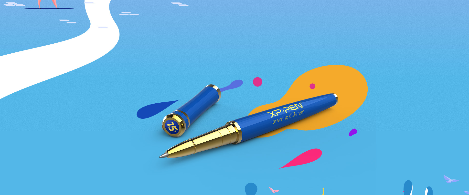 Reveal your creativity With the XP-PEN Branding Blue Pen