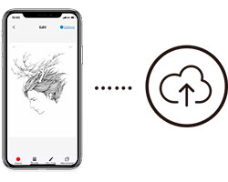 you can sketch on the go and upload your work to the cloud with XP-Pen Note Plus Smart notepad