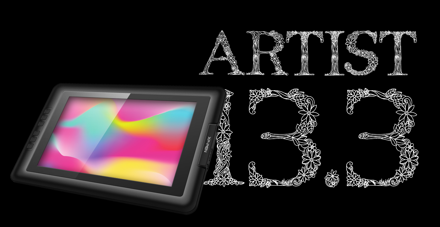 Artist 13.3 digital painting pad 13.3 inch screen with 1920x1080 HD display resolution