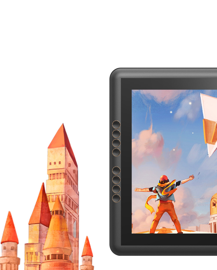 Artist 16 Pro display tablet come with 8 Customizable Express keys