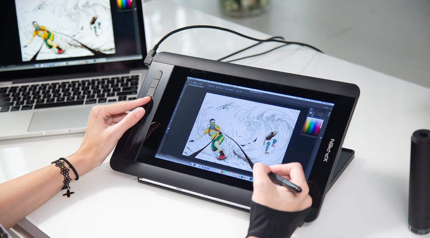 AC 18 Multifunctional Metal Display Drawing Tablet Stand XP-PEN