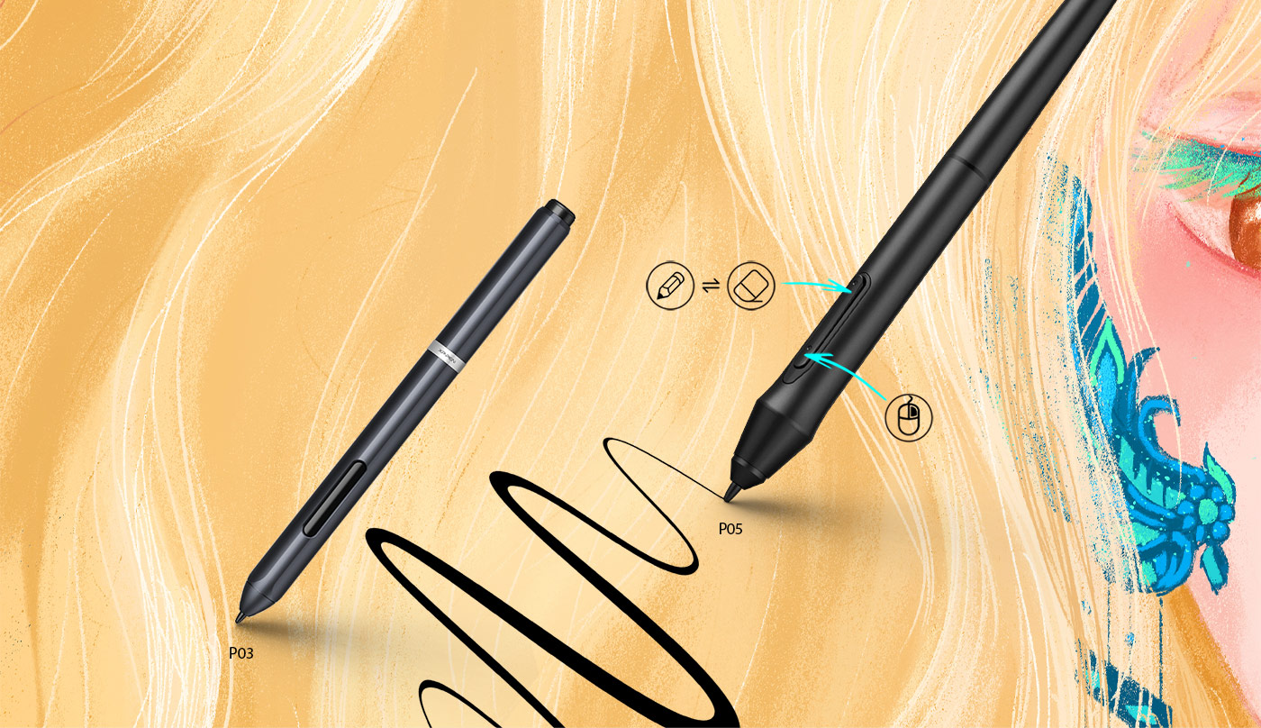 XP-Pen Deco 01 V2 digital drawing pad come With 8,192 levels of pressure sensitivity