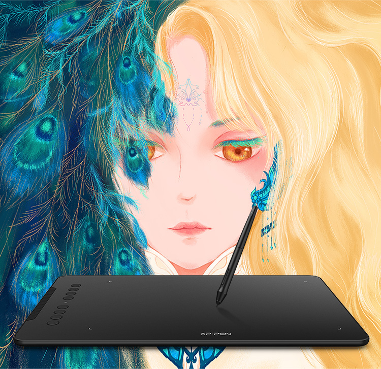 decorate your life by use XP-Pen Deco 01 V2 graphic drawing tablet