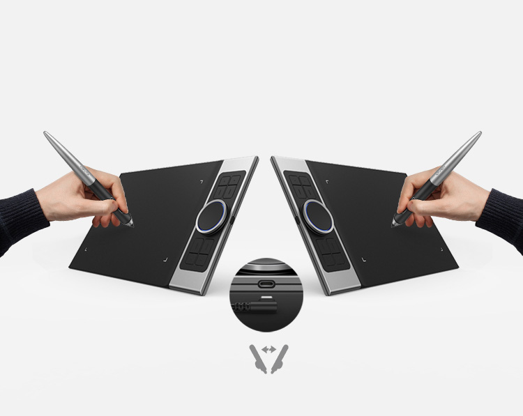 XP-Pen Deco Pro Series Graphics tablet features  Type-C USB port Usable with both right & left hand