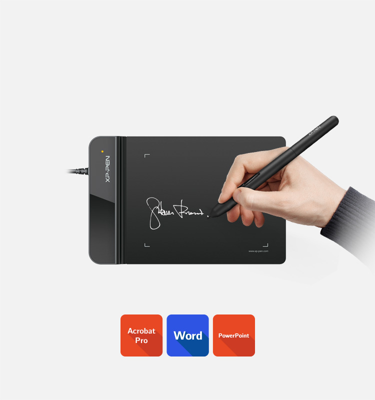 XP-Pen Star G430S drawing tablet for kids Business Signatures