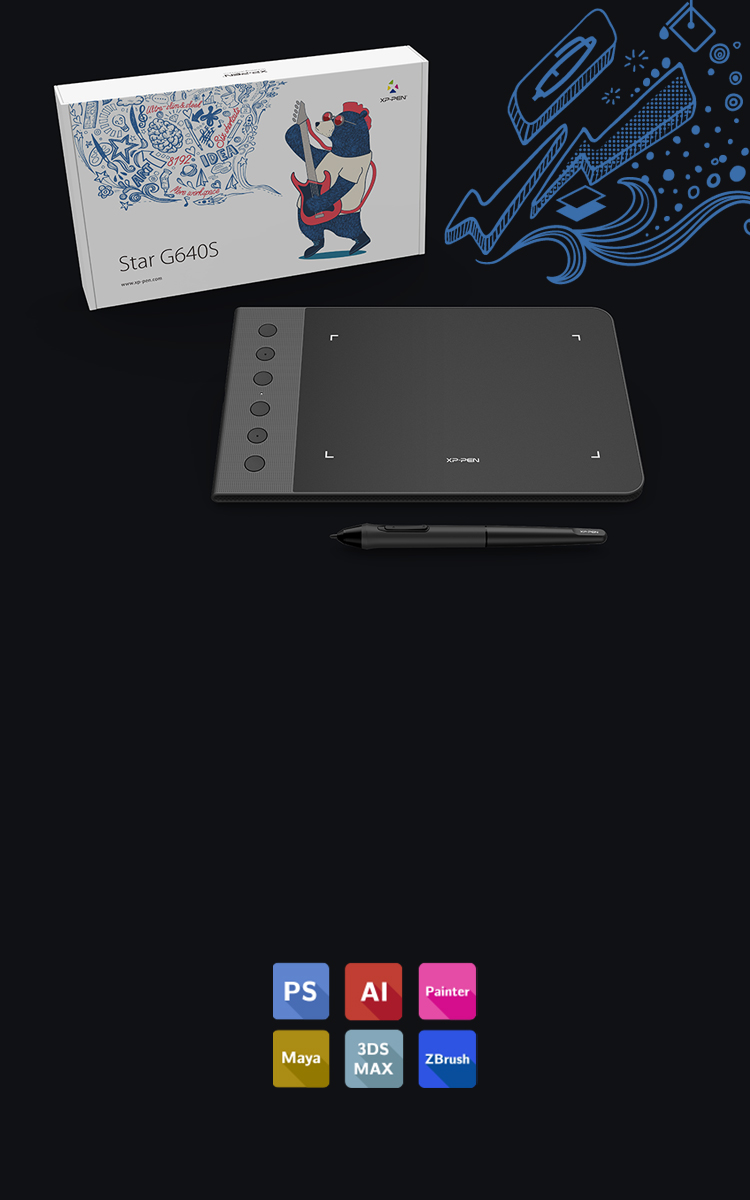 Star G640S Portable Digital Android Drawing Tablet|XP-PEN