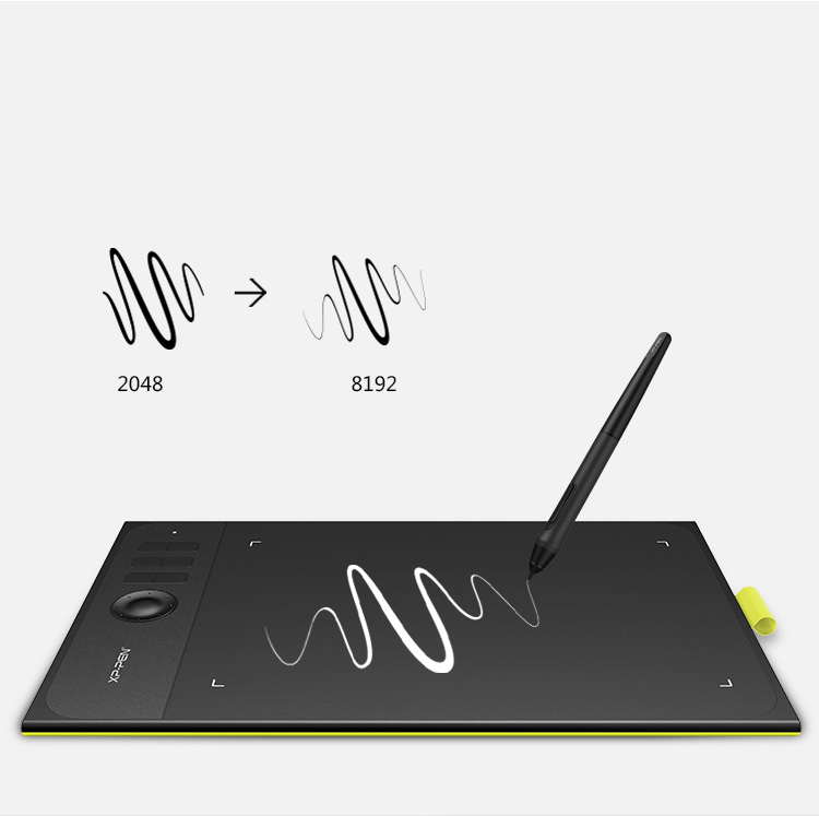 XP-Pen Star 06C graphic drawing tablet with stylus of 8192 pressure levels