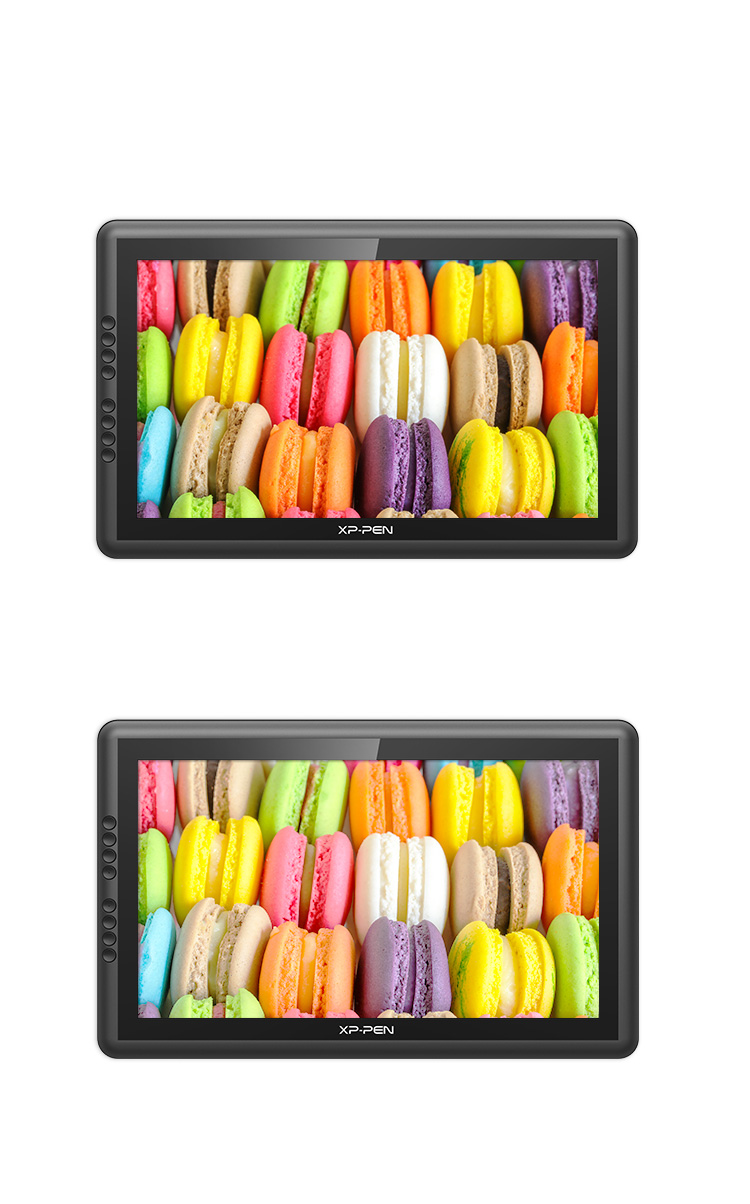 Artist 16 Pro display tablet compare to Artist 16 in Adobe® RGB